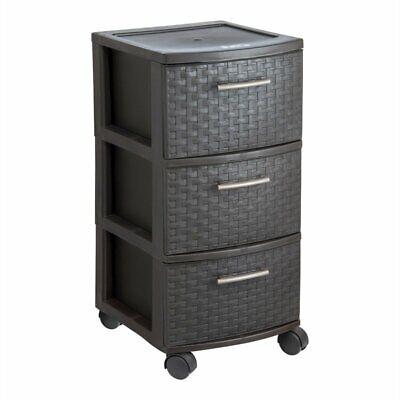 MQ INFINITY 3-Drawer Rolling Storage Cart in Espresso