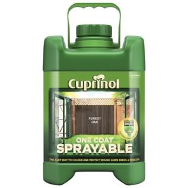 2 x Cuprinol 1 Coat Sprayable Forest Oak 5L