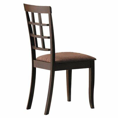 ACME Cardiff Side Chair in Espresso and Dark Brown - Dark Brown Side Chair
