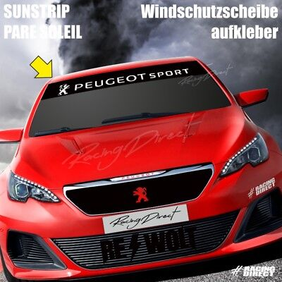 851 Pare soleil logo PEUGEOT SPORT sticker aufkleber sunstrip decal 208 308 RCZ