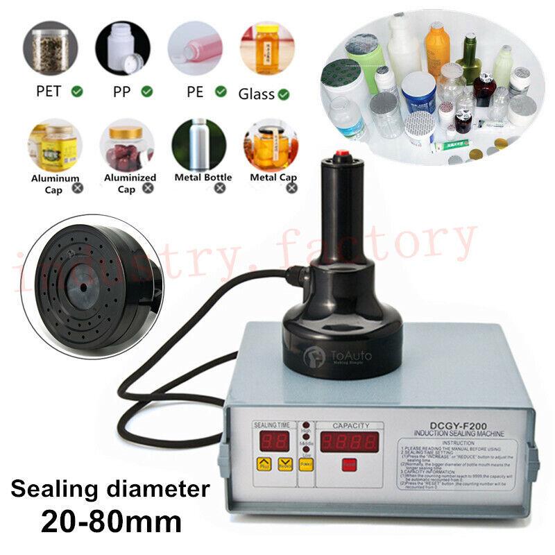Portable Induction Sealing Machine Bottle Cap Sealer Aluminum Foil 20-80mm 110V