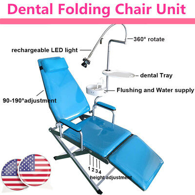 Mobile Dental Portable Folding Chair Unit Led Light Flushing And Water Supply
