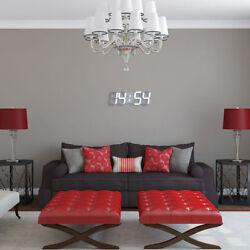 Digital LED Display Night Table 3D Wall Clock Alarm Watch Home Bedroom Decor