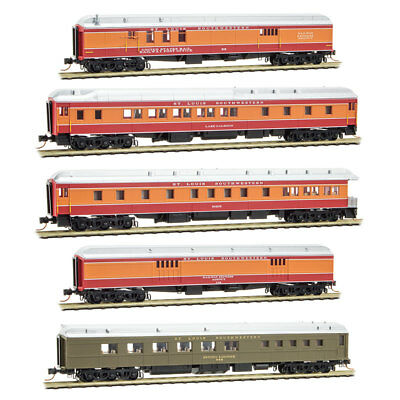N Scale - MICRO-TRAINS 993 01 720 SSW - COTTON BELT 5 Car Hwt Passenger Car Set for sale  Chillicothe