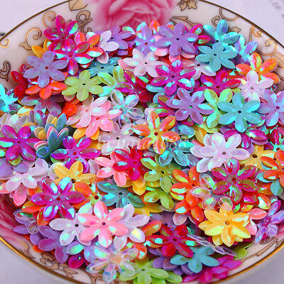 150Pcs New Shiny Flowers Loose Sequins Paillettes DIY Sewing Costume Dress 12mm