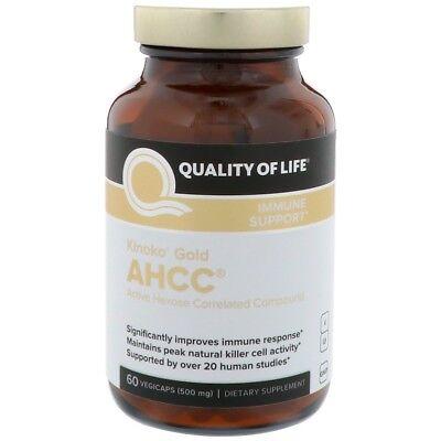 500 Mg Vegetarische Caps (Kinoko Gold AHCC, Immune Support, 500 mg, 60 Veggie Caps)