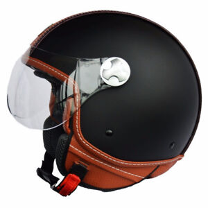 DOT Motorcycle Scooter Helmet Unisex Open Face ITALY Jet Sport