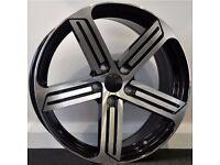 "18"" R-Line Style Alloy Wheels & Tyres. Seat Leon, Audi A3. Passat, Jetta, Golf MK5, MK6, MK7,Caddy"