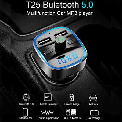 Car Wireless Bluetooth FM Transmitter MP3 Player Radio Adapter Kit USB Charger