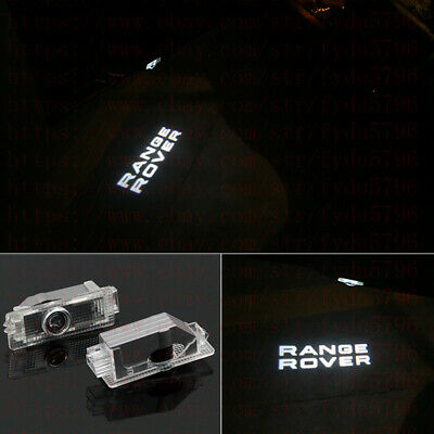 Range Rover 2X LED PROJECTOR LIGHT LOGO EMBLEM ACCESSORY CAR DOOR BRIGHT -