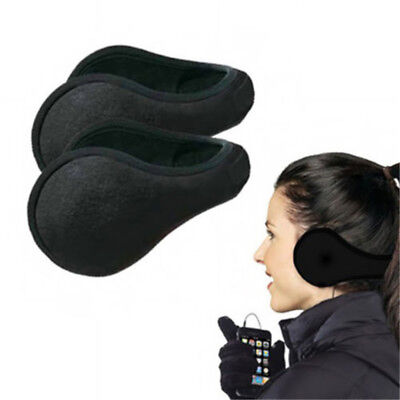 2 Ear Muffs Winter Ear warmers Fleece Earwarmer Mens Womens Behind the Head Band, used for sale  Shipping to Canada