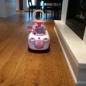 Pink Mini Mouse ride on/push car Peterborough Peterborough Area image 1