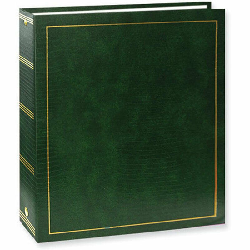 Pioneer LM100 Magnetic 100 Page Green Photo Album 5x7 Photo Gift For Mom or Wife