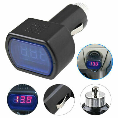 Car Electric Voltage Meter Tester Digital Led Display Gauge Voltmeter Dc12v-24v