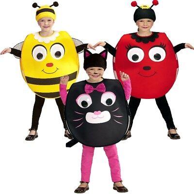 Kinder Kostüm mit Riesenaugen - Katze, Marienkäfer, Biene - Kleinkinder 2-4 (Männliche Bienen Kostüm)