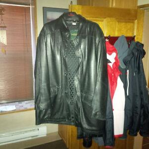 Danier Leather Jacket & LL Bean Barn Jacket