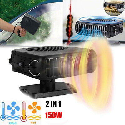 12V Car Auto Cigarette Lighter Heater Cooling Fan Defroster Demister 2 IN 1 UK