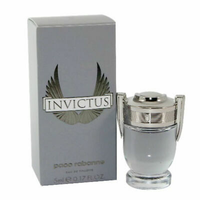 Invictus for Men Paco Rabanne Eau de Toilette Mini Splash 0.17 oz - New in Box