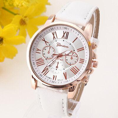 Fashion Watches Leather Stainless Men women Date Steel Analog Quartz Wrist Watch