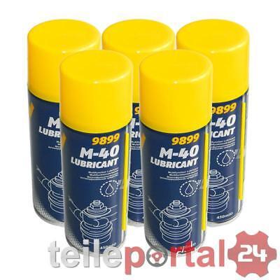 [1L/EUR6,17] 5x 450mL MANNOL M-40 Lubricant Multifunktionskriechöl