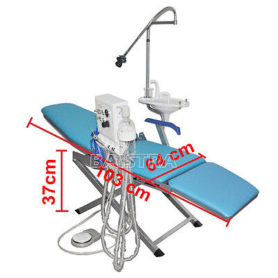 Dental Dentist Folding Portable Chair Updated Treatment Chair Led Dhl Ship