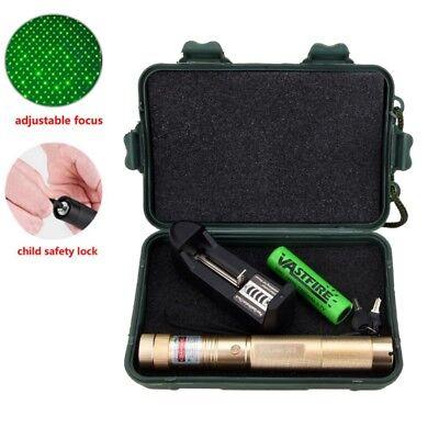 10 Miles 303 Green 1mW 532nm Laser Pointer Pen Lazer Light Burning +Battery+Box