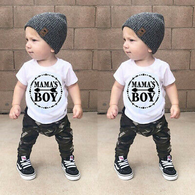 Outfits For Kids (For Newborn Kids Baby Boys Tops T-shirt Camo Pants Outfit Set Clothes)