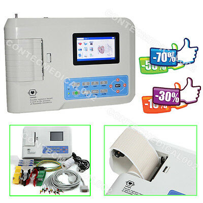 Ecg Machine 3 Channel Electrocardiograph 12 Lead Ekg Cardiac Monitorsoftwareus