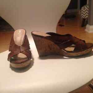 Brown mossimo wedges
