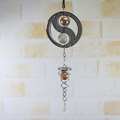 Wind Chimes Spinner Spiral Hanging Tai Chi Windchime For Home Garden Decoration