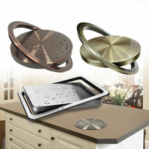 Stainless-Steel Trash Can Recessed Built-in Flap Lid cover K
