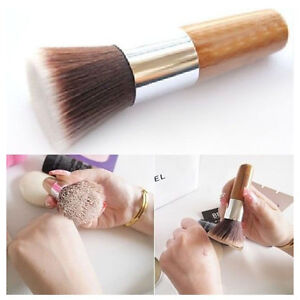 Flat-Buffer-Foundation-Powder-Brush-Cosmetic-Makeup-Tool-Wooden-Handle-Gift