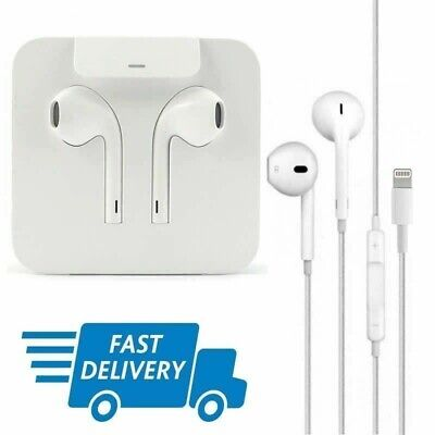 Genuine Apple iPhone X XS XR XS MAX Lightning Ear Pods Headphone Handsfree