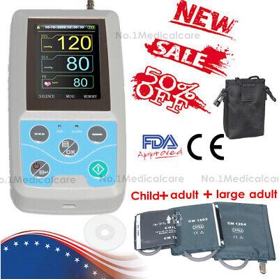 Fdace Ambulatory Blood Pressure Monitor Digital Upper Arm 3 Cuffs Pc Software
