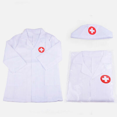 1 Set Kids Doctor Coat with Cap Pretend Paly Role Play Set for Cosplay Halloween](Doctor Halloween Costumes For Kids)