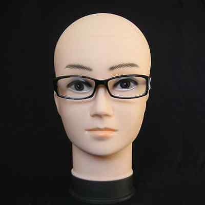 Female Mannequin Head Display Glasses Hat Cap Makeup Eyelash Wig Stand 50cm