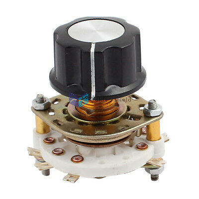 Kcx2x3 2 Pole 3 Position 6mm Shaft Band Channel Rotary Switch Selector W Cap
