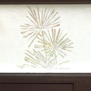 Etched frosted glass