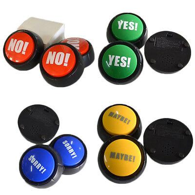 No Yes  Sound Button Squeeze Box Fun Stress Reliever Toys 1Pc  Random Color