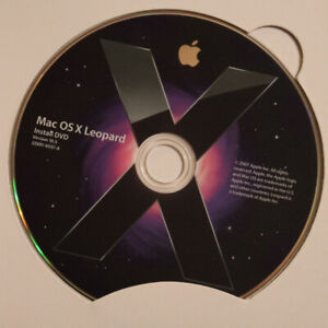 Mac OS X Leopard 10.5 operating system on DVD