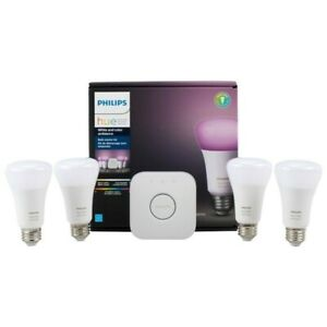 Brand New Open Box...Philips Hue Starter Kit ....4 Bulbs + HUB