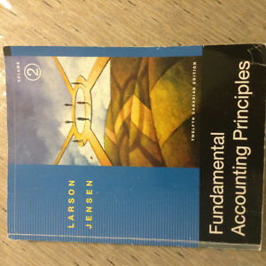 Fundamental Accounting Principles 12th Edition, by Larson and Je