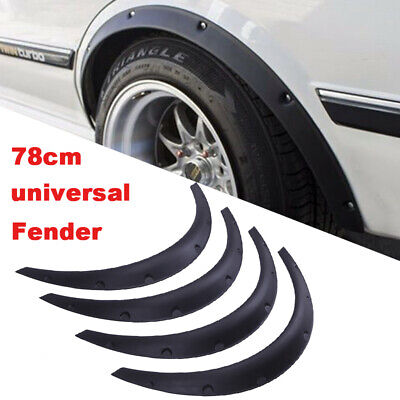 4Pcs 78mm Universal Car Fender Flares Extra Wide Body Kit Wheel Arches Set