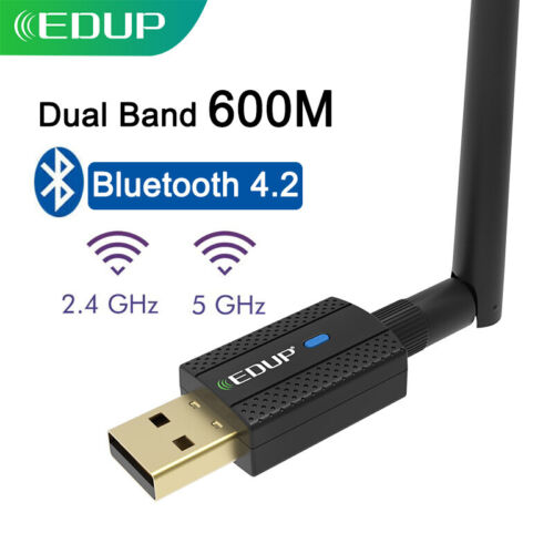 EDUP Wifi + Bluetooth Adapter USB 2.0 Wireless Dongle Dual B