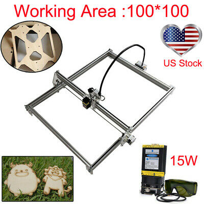 100100 Laser Router Kit 15w Laser Module Cnc Carving Engraver Diy Mini Machine