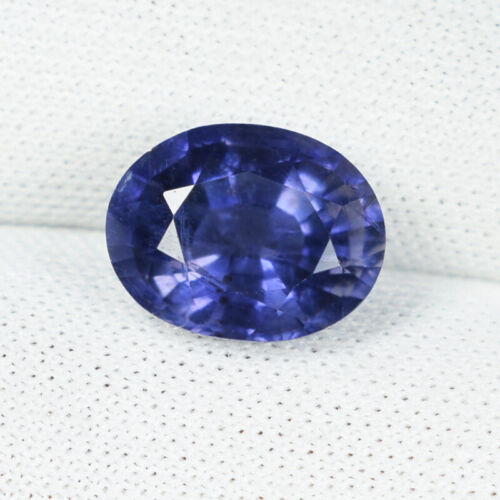 2.26 ct SHIMMERING BEST PURPLE BLUE NATURAL IOLITE Gemstone Oval See Vdo 6546 DL