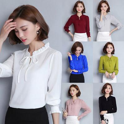 Fashion Women Summer Chiffon Blouse Loose Long Sleeve T-Shirt Casual Tops Blouse (Fashion Women Casual Chiffon)