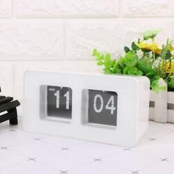 Vintage Auto Flip Clock Simple Desk Down Page Clocks Digital Table Clock Modern
