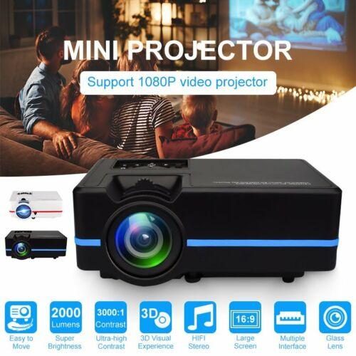 Full HD 1080P Beamer Video Projektor LED LCD Heimkino Beamer 3000:1 HDMI USB