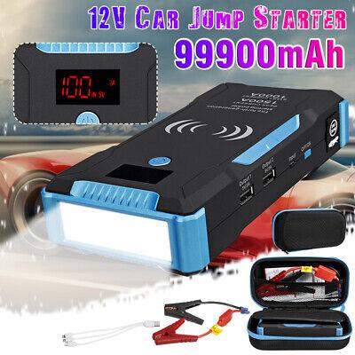 99900mAh 12V USB Charger Battery Power Bank LCD Car Jump Starter Pack Booster - $70.58